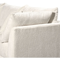 nest white  pc sectional