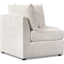 nest white corner chair