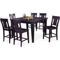 new haven ch black  pc counter height dining room