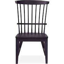 new haven black side chair
