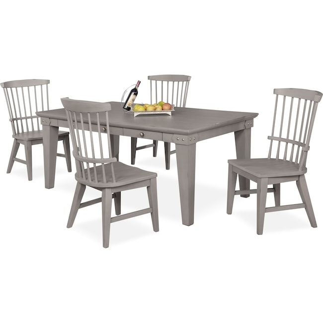 Dining Room Furniture - New Haven Dining Table and 4 Windsor Side Chairs