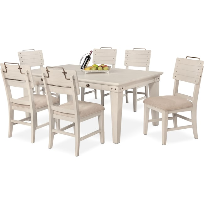 Dining Room Furniture - New Haven Dining Table and 6 Shiplap Side Chairs