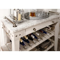 new haven white serving cart