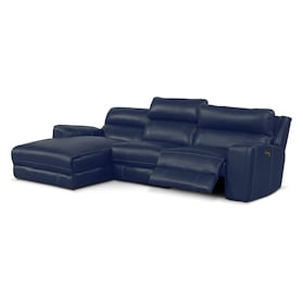 Newport 3-Piece Dual-Power Reclining Sectional with Chaise