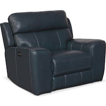 newport blue power recliner
