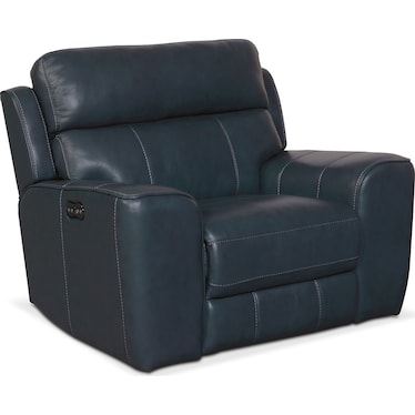 Newport Dual-Power Recliner - Blue