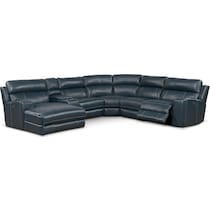 newport blue power reclining sectional