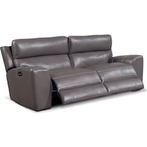 newport gray  pc power reclining sofa