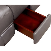 newport gray power reclining sectional