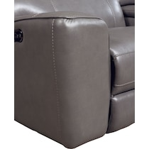 newport gray power reclining sectional