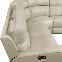 newport white power reclining sectional