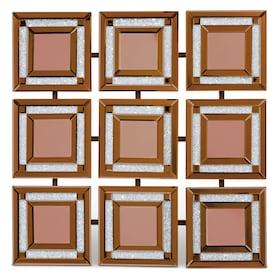Gold Nine Panel Wall Mirror