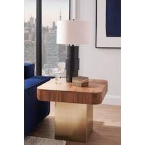 oiled bronze black table lamp