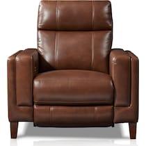 oliver dark brown power recliner