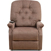 olympia light brown power lift recliner