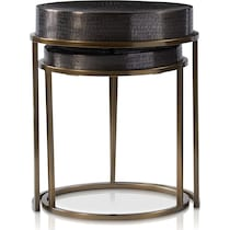 onyx gray nesting tables