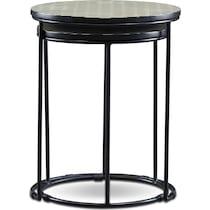 optic black nesting tables