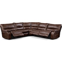 orlando ii brown  pc power reclining sectional