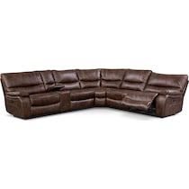 orlando ii brown power reclining sectional