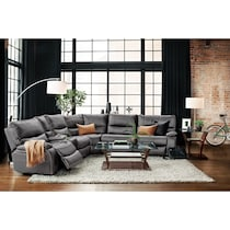 orlando gray  pc power reclining sectional