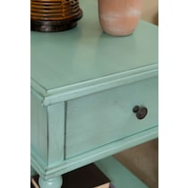 orville blue side table