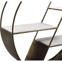owen iron marble bookcase