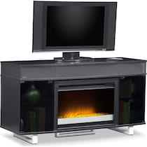 pacer black black fireplace tv stand