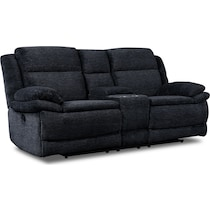 pacific black manual reclining loveseat
