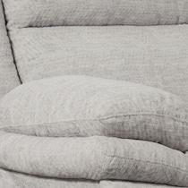 pacific gray manual reclining loveseat