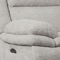 pacific gray power reclining loveseat