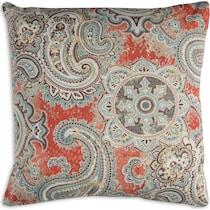 paisley multicolor outdoor pillow