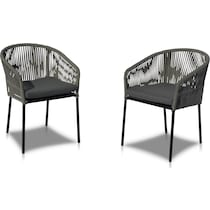 paloma black outdoor chair