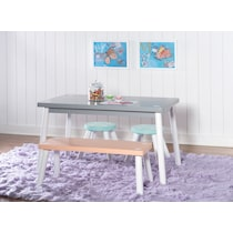 pastel multicolor desk
