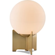 pearl white and bronze table lamp