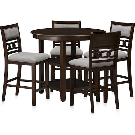 Pearson Counter-Height Dining Table and 4 Stools - Cocoa