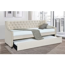 penelope white twin daybed with trundle