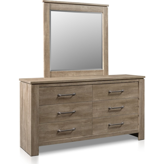 Bedroom Furniture - Perry Dresser and Mirror