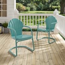 petal blue outdoor chair
