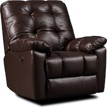 phoenix dark brown recliner