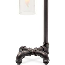 pipe bottle metal matte black table lamp
