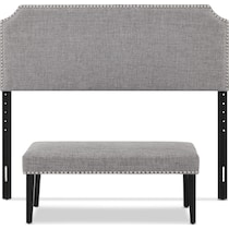 piper gray  pc queen bedroom set