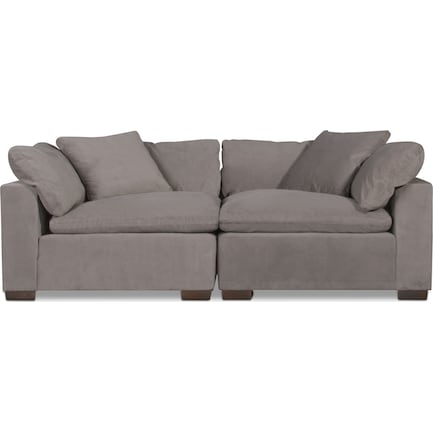 Plush Core Comfort 2-Piece Sectional - Gray