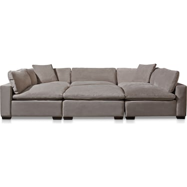 Plush 6-Piece Sectional - Fog