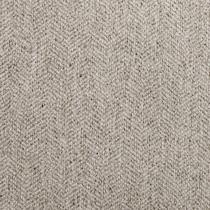 plush gray armless chair