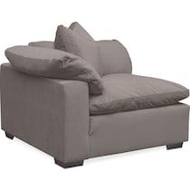 plush gray corner chair