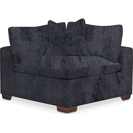 Plush Feathered Comfort Feathered Comfort Corner Chair - Sherpa Charcoal