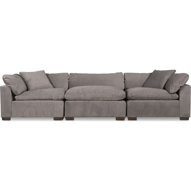 Living Room Furniture - Plush 3-Piece Sofa