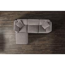 plush gray sofa
