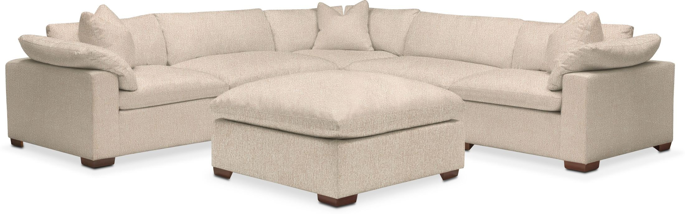 Living Room Furniture - 6PC SCTNL-PLUSH PF - Halifax Shell