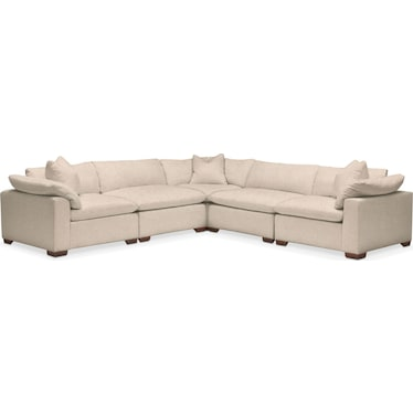 Plush Performance 5-Piece Sectional - Halifax Shell